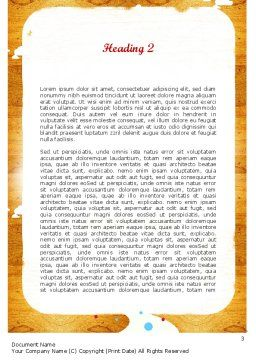 Enchanted Forest Word Template, Second Inner Page, 11528, Education & Training — PoweredTemplate.com