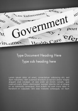 Government Word Template, Cover Page, 11529, General — PoweredTemplate.com