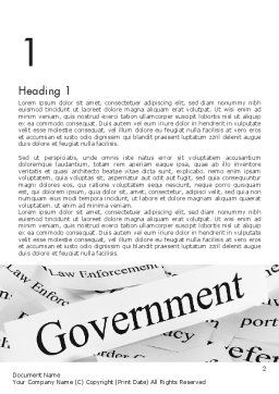 Government Word Template, First Inner Page, 11529, General — PoweredTemplate.com
