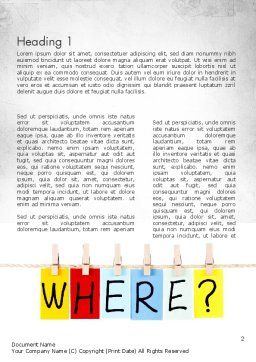 Where Question Word Template, First Inner Page, 11530, Education & Training — PoweredTemplate.com