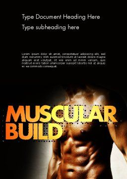 Muscular Build Word Template, Cover Page, 11531, Sports — PoweredTemplate.com