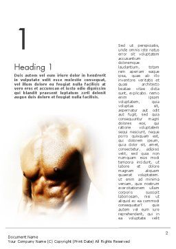 Muscular Build Word Template, First Inner Page, 11531, Sports — PoweredTemplate.com