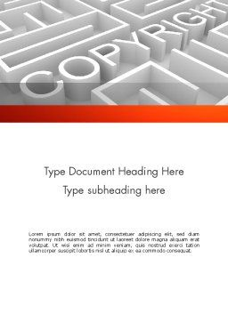 Intellectual Property Maze Word Template, Cover Page, 11532, Legal — PoweredTemplate.com