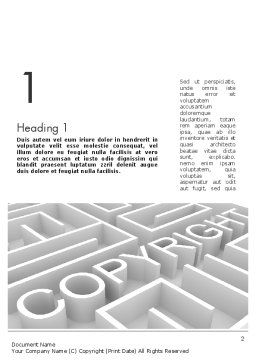Intellectual Property Maze Word Template, First Inner Page, 11532, Legal — PoweredTemplate.com