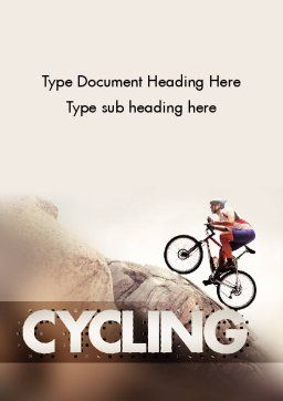 Biking Up Mountain Word Template, Cover Page, 11534, Sports — PoweredTemplate.com
