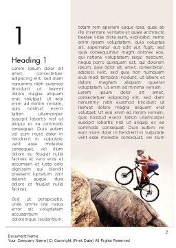 Biking Up Mountain Word Template, First Inner Page, 11534, Sports — PoweredTemplate.com