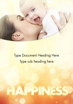 Happy Maternity Word Template Cover Page