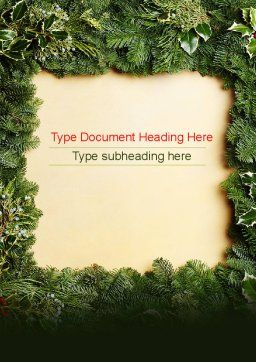 Christmas Frame Word Template, Cover Page, 11537, Holiday/Special Occasion — PoweredTemplate.com