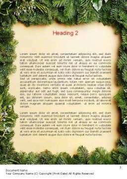 Christmas Frame Word Template, Second Inner Page, 11537, Holiday/Special Occasion — PoweredTemplate.com