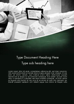 Market Research Analyst Word Template, Cover Page, 11541, Careers/Industry — PoweredTemplate.com