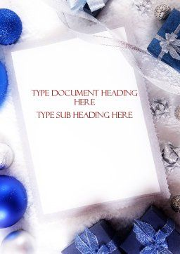 Christmas Greeting Card Word Template, Cover Page, 11542, Holiday/Special Occasion — PoweredTemplate.com