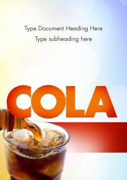 Cola Drinks Word Template, Cover Page, 11545, Food & Beverage — PoweredTemplate.com