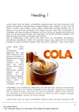 Cola Drinks Word Template, First Inner Page, 11545, Food & Beverage — PoweredTemplate.com