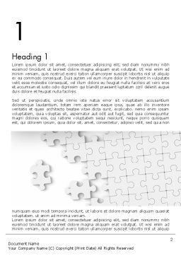 Puzzle Solution Word Template, First Inner Page, 11548, Business Concepts — PoweredTemplate.com