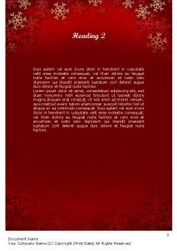 Snowflakes on Red Background Word Template, Second Inner Page, 11549, Holiday/Special Occasion — PoweredTemplate.com