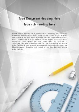 Drafting Tools Word Template, Cover Page, 11551, Careers/Industry — PoweredTemplate.com