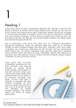 Drafting Tools Word Template, First Inner Page, 11551, Careers/Industry — PoweredTemplate.com