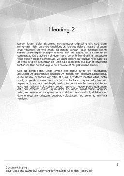 Drafting Tools Word Template Second Inner Page