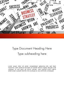 Business Strategy Concept Word Template, Cover Page, 11552, Education & Training — PoweredTemplate.com