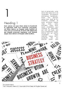 Business Strategy Concept Word Template, First Inner Page, 11552, Education & Training — PoweredTemplate.com