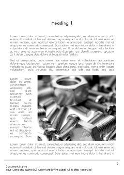Nuts and Bolts Word Template, First Inner Page, 11553, Utilities/Industrial — PoweredTemplate.com