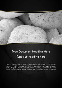 Large White Stones Word Template, Cover Page, 11554, Business — PoweredTemplate.com
