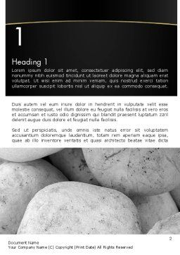 Large White Stones Word Template, First Inner Page, 11554, Business — PoweredTemplate.com