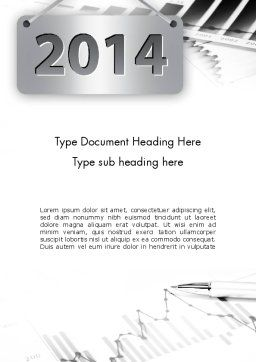 New Financial Year Word Template, Cover Page, 11556, Financial/Accounting — PoweredTemplate.com