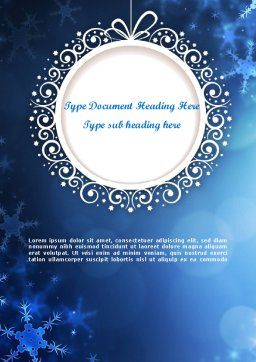 Blue Snowflakes Background Word Template, Cover Page, 11558, Holiday/Special Occasion — PoweredTemplate.com