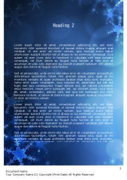 Blue Snowflakes Background Word Template, Second Inner Page, 11558, Holiday/Special Occasion — PoweredTemplate.com