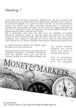 Money and Markets Word Template, First Inner Page, 11559, Financial/Accounting — PoweredTemplate.com