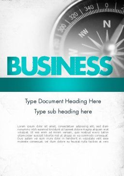Business Navigation Concept Word Template, Cover Page, 11563, Business Concepts — PoweredTemplate.com