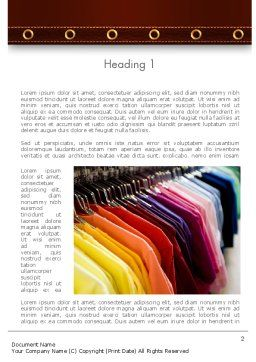 Colored T-shirts Word Template, First Inner Page, 11565, Careers/Industry — PoweredTemplate.com