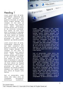 Web Browser Word Template, First Inner Page, 11569, Technology, Science & Computers — PoweredTemplate.com