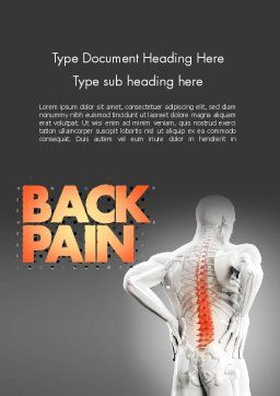 Back Pain Word Template, Cover Page, 11571, Medical — PoweredTemplate.com