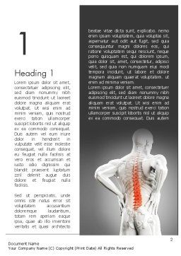 Back Pain Word Template, First Inner Page, 11571, Medical — PoweredTemplate.com