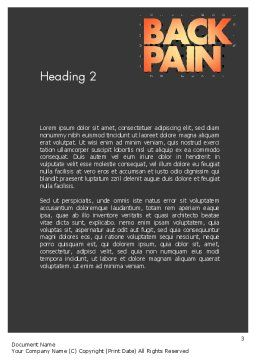 Back Pain Word Template, Second Inner Page, 11571, Medical — PoweredTemplate.com