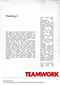 People With Gear Word Template, Second Inner Page, 11572, Business Concepts — PoweredTemplate.com
