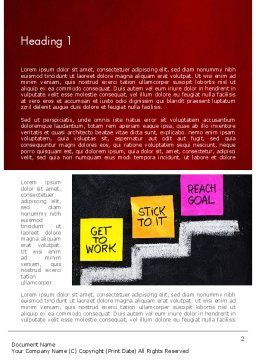 Goal Setting Word Template First Inner Page