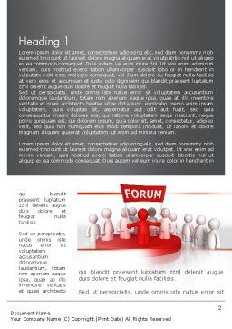 Forum Word Template, First Inner Page, 11580, Careers/Industry — PoweredTemplate.com