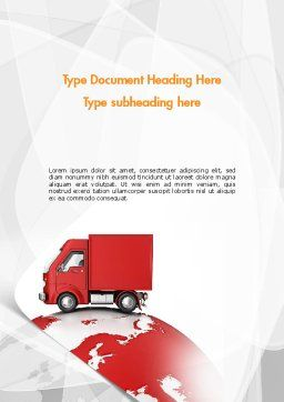 Worldwide Delivery Word Template Cover Page