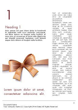 Christmas Bow-knot Word Template, First Inner Page, 11584, Holiday/Special Occasion — PoweredTemplate.com