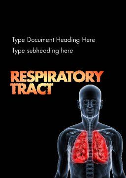 Respiratory Care Word Template, Cover Page, 11586, Medical — PoweredTemplate.com