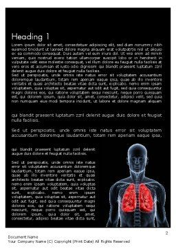 Respiratory Care Word Template, First Inner Page, 11586, Medical — PoweredTemplate.com