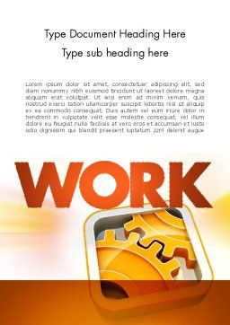 Cogwheel Gears Word Template, Cover Page, 11587, Business Concepts — PoweredTemplate.com