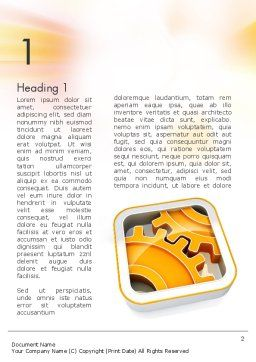 Cogwheel Gears Word Template, First Inner Page, 11587, Business Concepts — PoweredTemplate.com