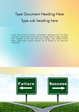 Two Options Word Template, Cover Page, 11591, Business Concepts — PoweredTemplate.com