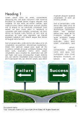 Two Options Word Template, First Inner Page, 11591, Business Concepts — PoweredTemplate.com