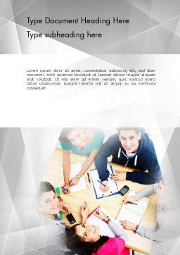 Students at Work Word Template Cover Page