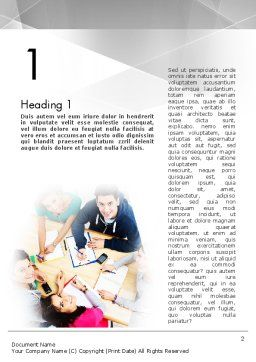 Students at Work Word Template First Inner Page